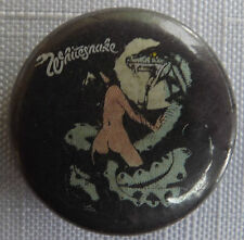 "WHITESNAKE  Old/Vtg 1980`s Button Pin Badge(25mm-1"") #WY105"