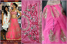 Réel pics-bollywood indian pakistani pink lehenga lehnga lengha saree