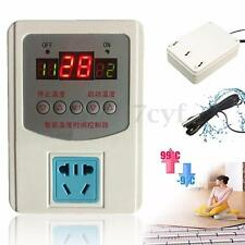 220V -9~99°C Digital LED Thermostat Temperature Controller Switch Magnetic Probe