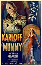 "1930s ""The Mummy"" Classic Scary Monster Horror Movie Silk Fabric Poster 11""x17"""