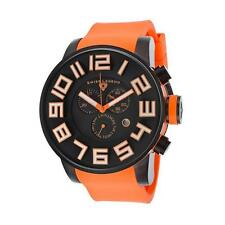 Swiss Legend SL-30425-BB-01-OSA Airbourne Chronograph Orange Silicone Black Dial