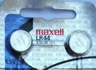 LR44 Maxell (2 piece) LR44 MAXELL A76 L1154 AG13 357 New Alkaline Battery