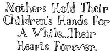 Unmounted Rubber Stamp, Sayings,  Sentiments, Mothers Day, Children, Babies,