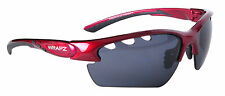 Golf Sunglasses Vented Wrapz Trailbreaker BURGUNDY RED with GREY Lens