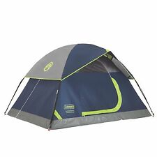 Coleman Sundome 2 Person Outdoor Hiking Camping Tent w/ Rainfly Awning | 7'