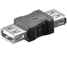 USB 2.0 Adapter Verbinder A BUCHSE AA Kupplung Gender Changer schwarz