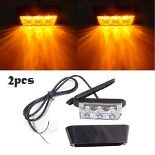 2pc 3W High Power 3 LED Car Truck Flash Strobe Emergency Warning Light -Amber