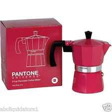 NEW! PANTONE UNIVERSE 3 Cup Coffee Pot Maker (215) HOT PINK