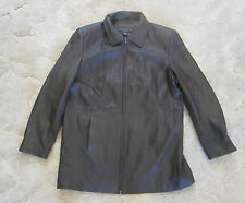 CENTIGRADE STYLISH MEN'S  BROWN  ZIP UP LEATHER JACKET SIZE LARGE~NICE~