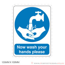Now wash your Hands Please / Sink / Food Hygiene - Sign, Sticker