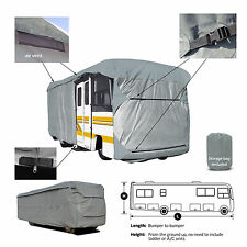 Deluxe 4-Layer Class A RV Motorhome Cover Fits 36' - 37'L W/Zipper Door Access