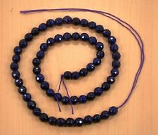 6 MM FACETED BLUE SAPPHIRE ROUND SHAPE LOOSE BEADS SEMI PRECIOUS GEMSTONE-18.4