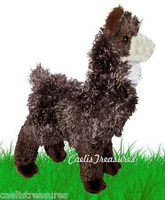 "Douglas Choco LLAMA 11"" Plush Stuffed Farm Animal Standing Realistic Alpaca NEW"