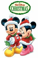 ****MICKEY MINNIE MOUSE DISNEY *CHRISTMAS**FABRIC/T-SHIRT IRON ON TRANSFER