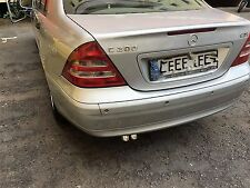 Chrome Exhaust end pipe Double pipe installation, Mercedes w202 w203