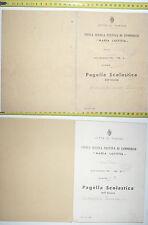 PAGELLA SCOLASTICA DEL COMUNE DI CARIGNANO PROV. DI TORINO@ANNO 1936/37@R@R@