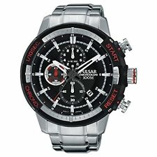 Pulsar Men's Quartz Chronograph 100m Stainless Steel Watch PM3047
