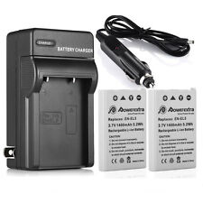 2X EN-EL5 ENEL5 Battery +Charger For Nikon Coolpix P500 P510 P520 P90 P100 P6000