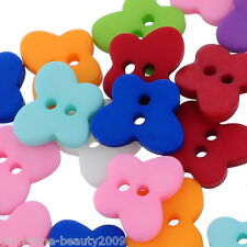 GB 25PCs Mixed 2 Holes Butterfly Resin Buttons Fit Sewing and Scrapbook 13x11mm