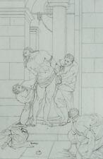 La Flagellation d'après Eustache le Sueur Gravure 19ème siècle