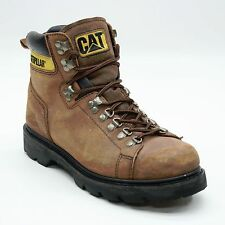 "CAT Men's Size 10 Wide Caterpillar 7"" Leather Construction Work Earthwork Boots"