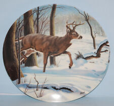"""""""The White-Tailed Deer"""" Collectors Plate 1989 Canada's Big Game Series"""