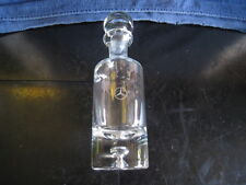 RARE - MERCEDES BENZ ETCHED LOGO CRYSTAL GLASS DECANTER WITH STOPPER - MINT