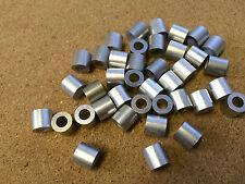 2x Aluminio Crimp Extremo deja de 3.5mm/4mm Cable de acero de acero Aparejo