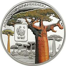 Madgascar Boabas Tree 2015 Central African Rep. - World Wildlife Fund Proof-like