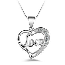 New Valentine's Day Lover Gift For Her Fashion Heart Necklace Pendant With Chain