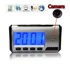 Camera Alarm Clock Micro Hidden Nanny Cam Motion Detection Mini DVR Video Spy DE