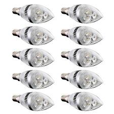 10x E14 3 LED Kerze Birne Energiesparlampe Lampe Strahler 6W Warmweiss 3000K DE