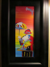 "Peter Max - Original painting ""The Umbrella Man"""