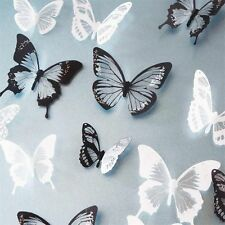 18 Pcs 3D Butterfly Crystal Transparent Decor Wall Sticker Home Wall Decals #2
