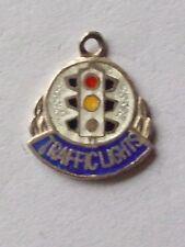 Traffic Lights road highway code sign vintage silver & enamel  travel charm