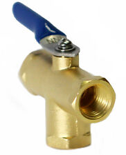 "1/4"" Female NPT 3 way Mini Brass Ball VAlve L PORT for Fuel Oil, Gas or Water"