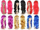 WOMENS LONG CURLY SEXY WIG FANCY DRESS LADIES COSPLAY COSTUME PARTY FULL WIGS