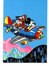 Mickey Mouse Flying Prop Plane-Disney Friends-Character-Italy Comic Art Postcard