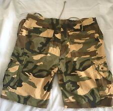 Abercrombie And Fitch Camo Camouflage Cargo Shorts Men's  SIZE M