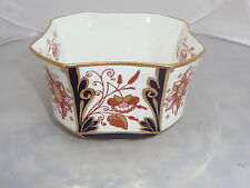 WILEMAN SUGAR BOWL  PRE SHELLEY / FOLEY 3476 IMARI JAPAN SQUARE QUEEN ANNE 1884