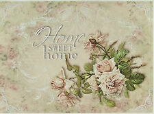 Ricepaper / Decoupage paper, Scrapbooking Sheets Home Sweet Home Rose Big