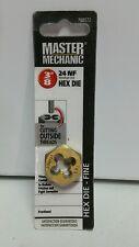 """MASTER MECHANIC Die 3/8"""" 24 NF Fine Thread Hex Die Titanium 788572"""