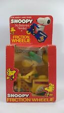 Woodstock Snoopy Friction Wheelie Vintage Toy Cycle Scooter YELLOW Never Removed