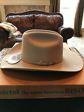 "Resistol 4 X Bison Collection ""Spotter"" Silversand Western Hat Size 7 5/8 !"