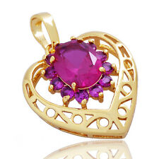 Heart Pendant Ruby 14k gold Fashion Jewelry for womens Necklace