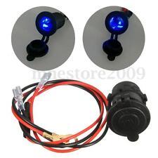Motorcycle LED Light Cigarette Lighter Socket Power Plug Outlet Waterproof 12V