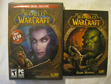 World of Warcraft 14-Day Trial Edition DVD-ROM & Game Manual NEW