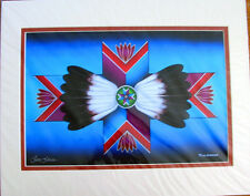 """Art Print Authentic Native American  """"Eternity""""  20x16"""" matted New"""