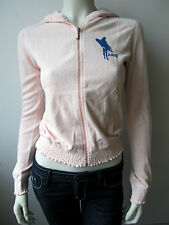 Juicy Couture Lulu Sunshine Try Sweatjacke Jacke Sweater Rosa Neu S