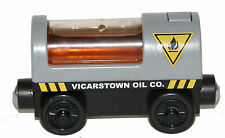 VICARSTOWN LIGHT UP OIL CAR Thomas Tank Engine Wooden Railway NEW